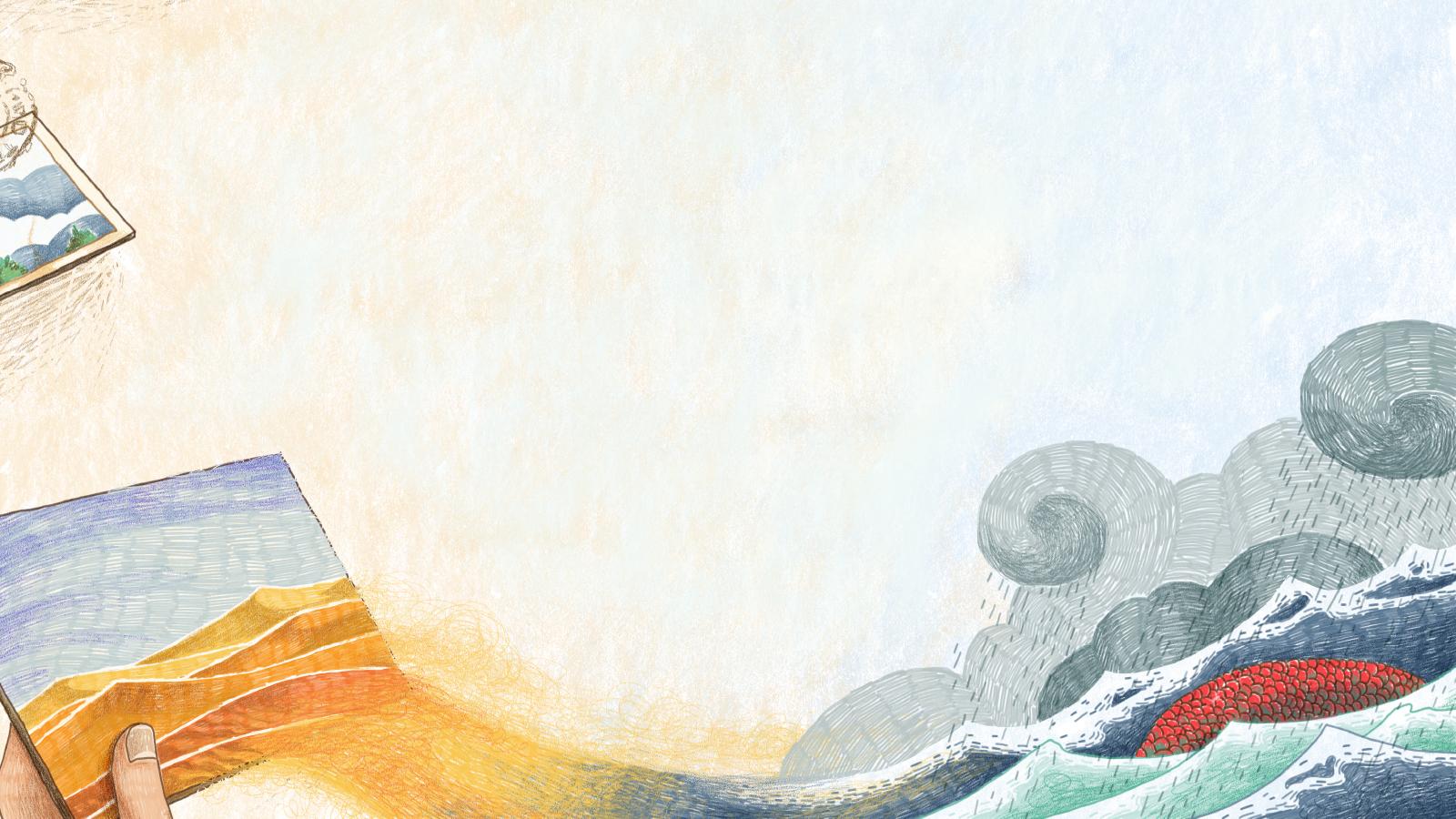 """""""Una cartolina dal mondo sommerso"""" illustrazione per la Rivista dei Ragazzi racconto di Pier Domenico Baccalario"""